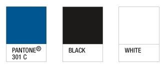 GVSU colors: Pantone 301C, black, white